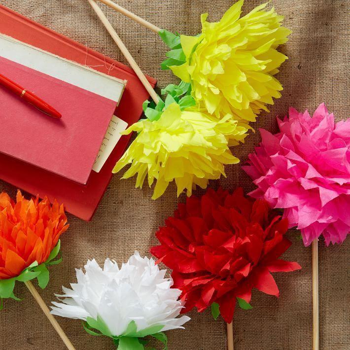 бумаги мастеркласс гофрированная из бумага цветы