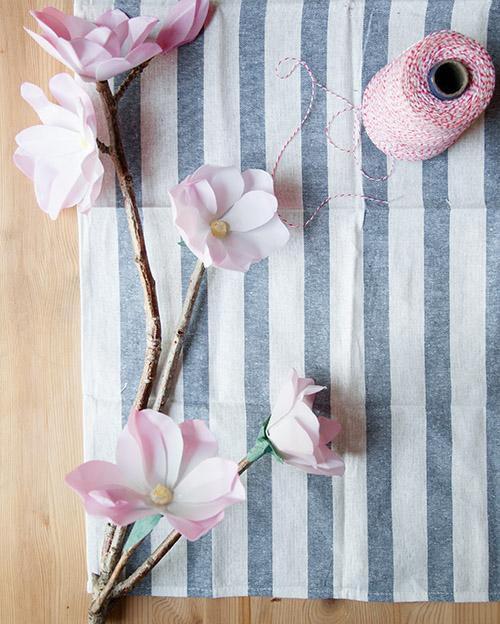 магнолии бумаги мастеркласс поделки из бумажные цветы