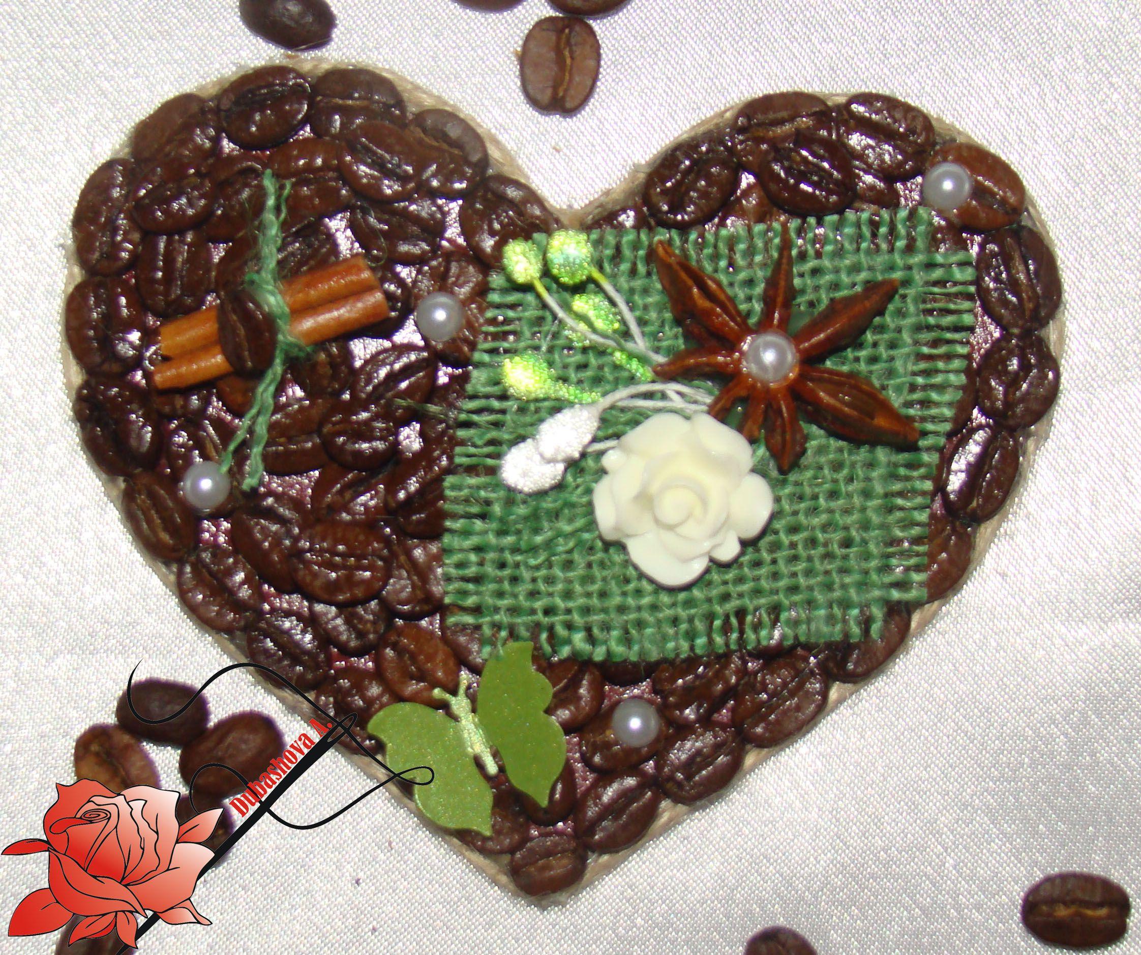 ручнаяработа корица бадьян джут кофе магнит handmade