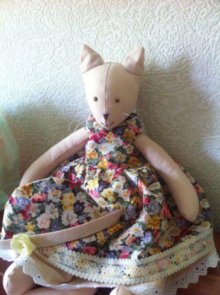 игрушка текстиль яркая кошка своимируками