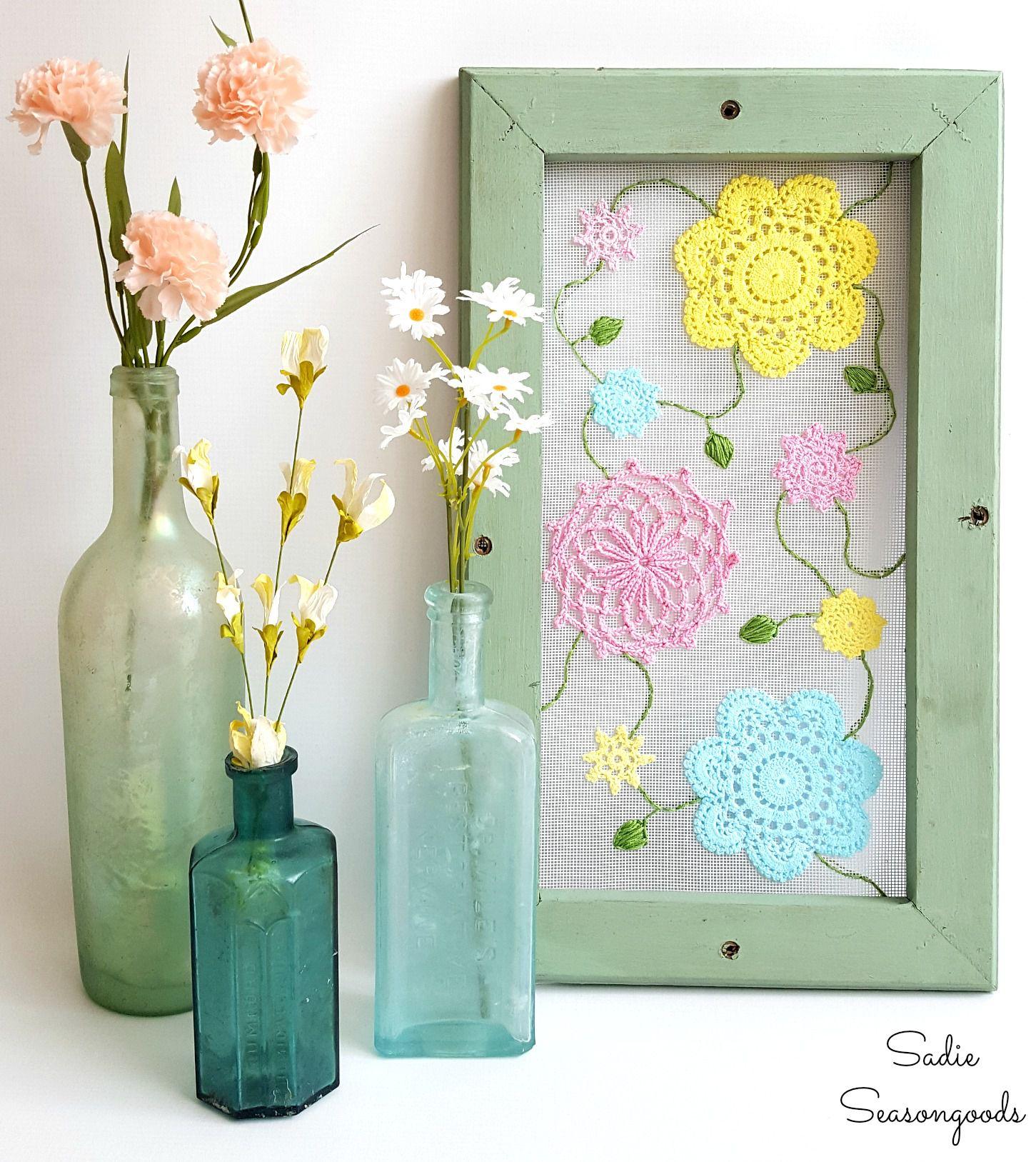 картина салфетки панно дома декор для весна сам вязанные сделай идеи дом