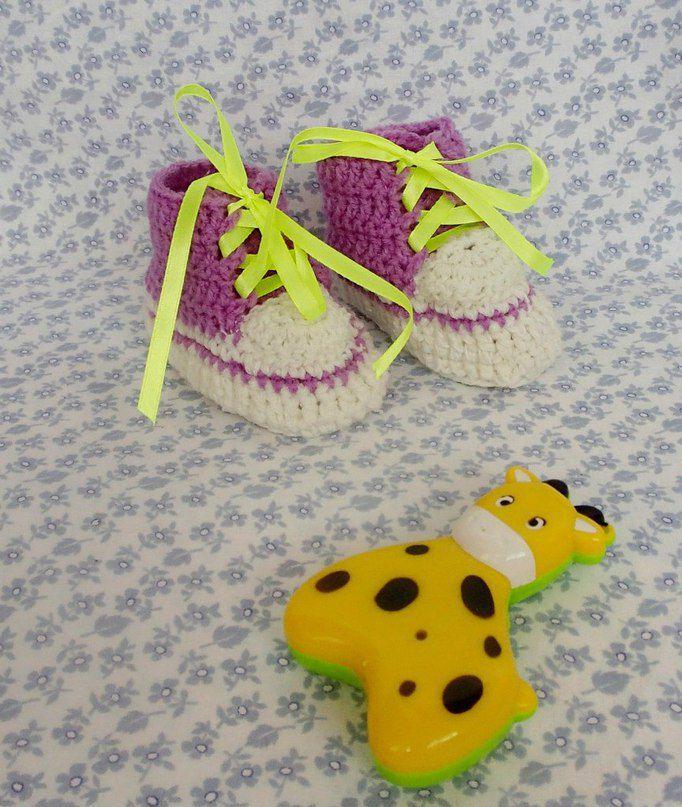 малышам пинетки обувь крючком