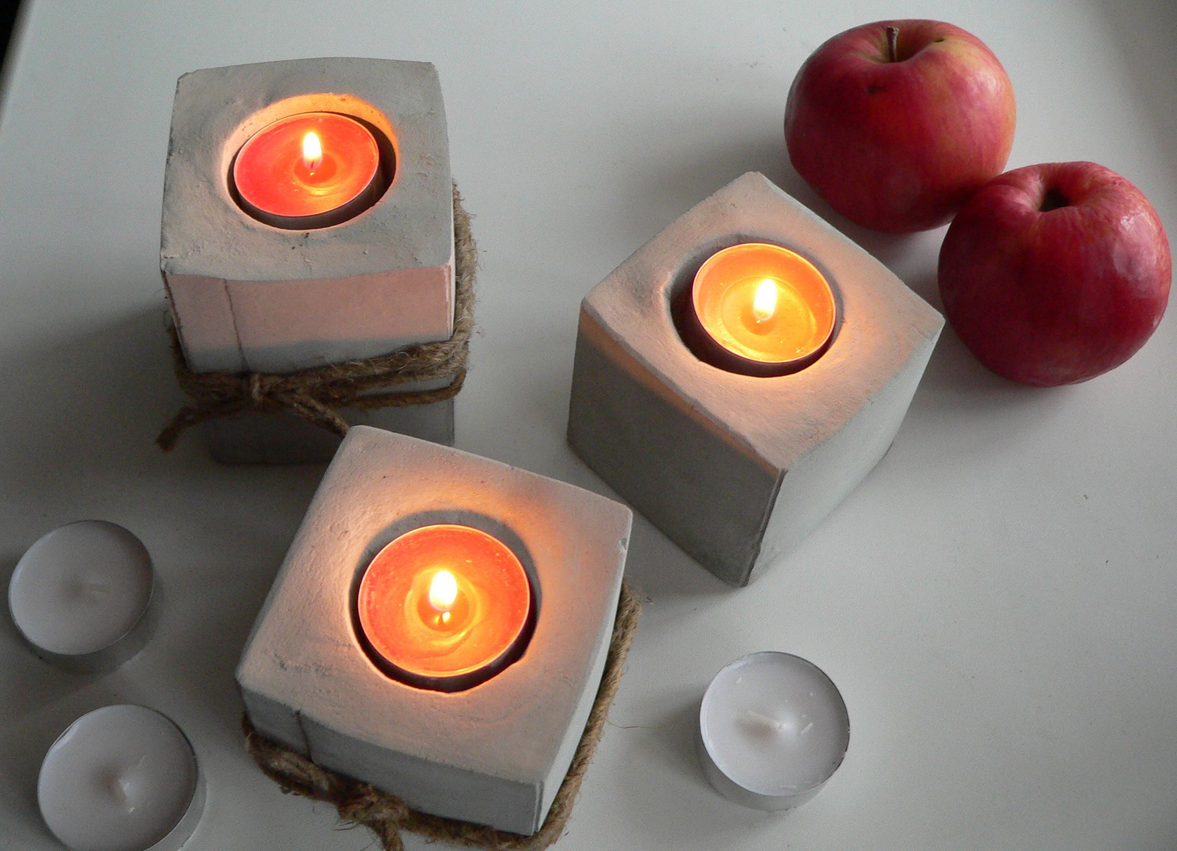 бетон подсвечники подарки изделия