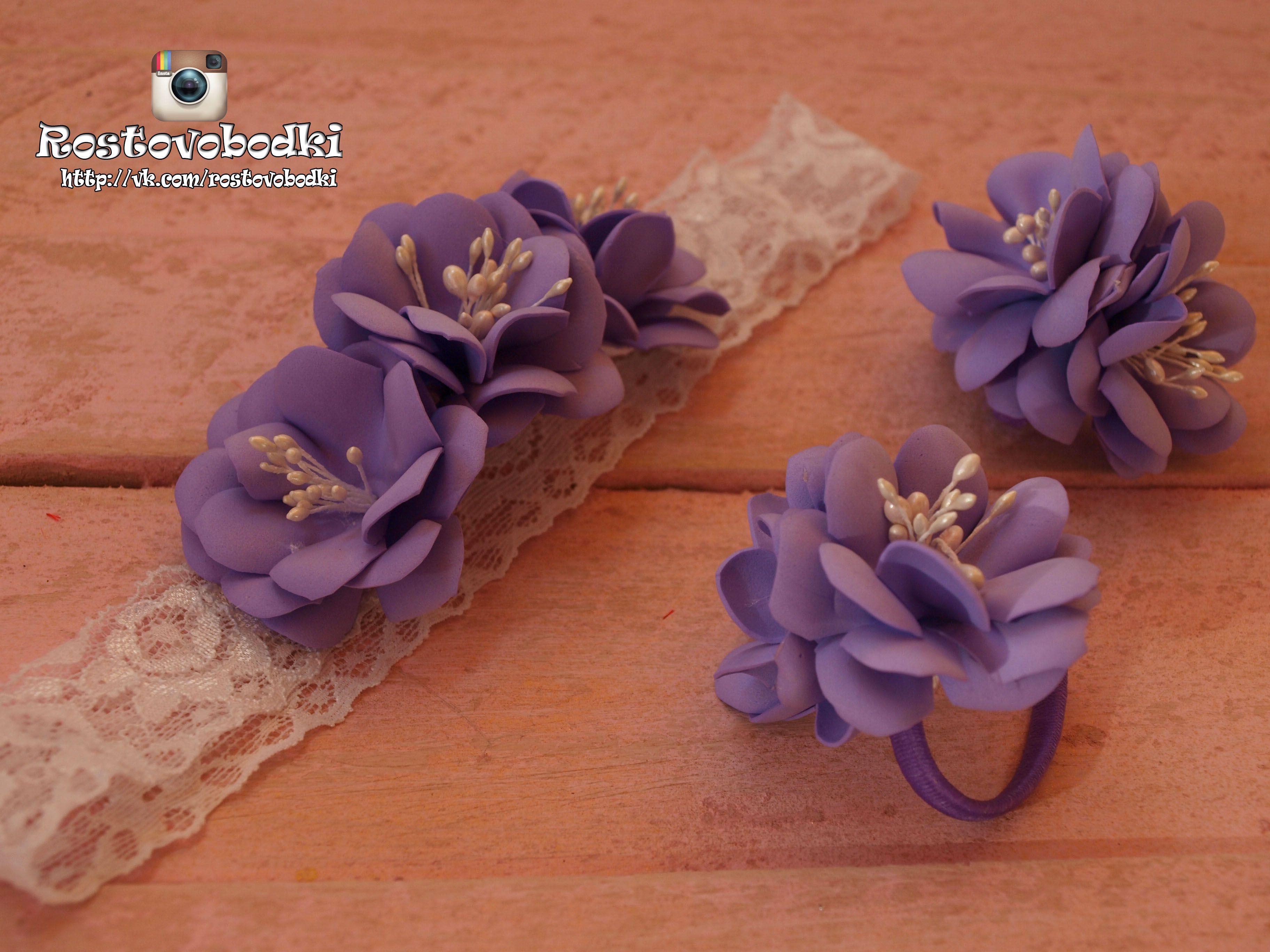 ручнаяработа повязочка фоамиран дляпринцессы повязкадлядевочки цветы своимируками