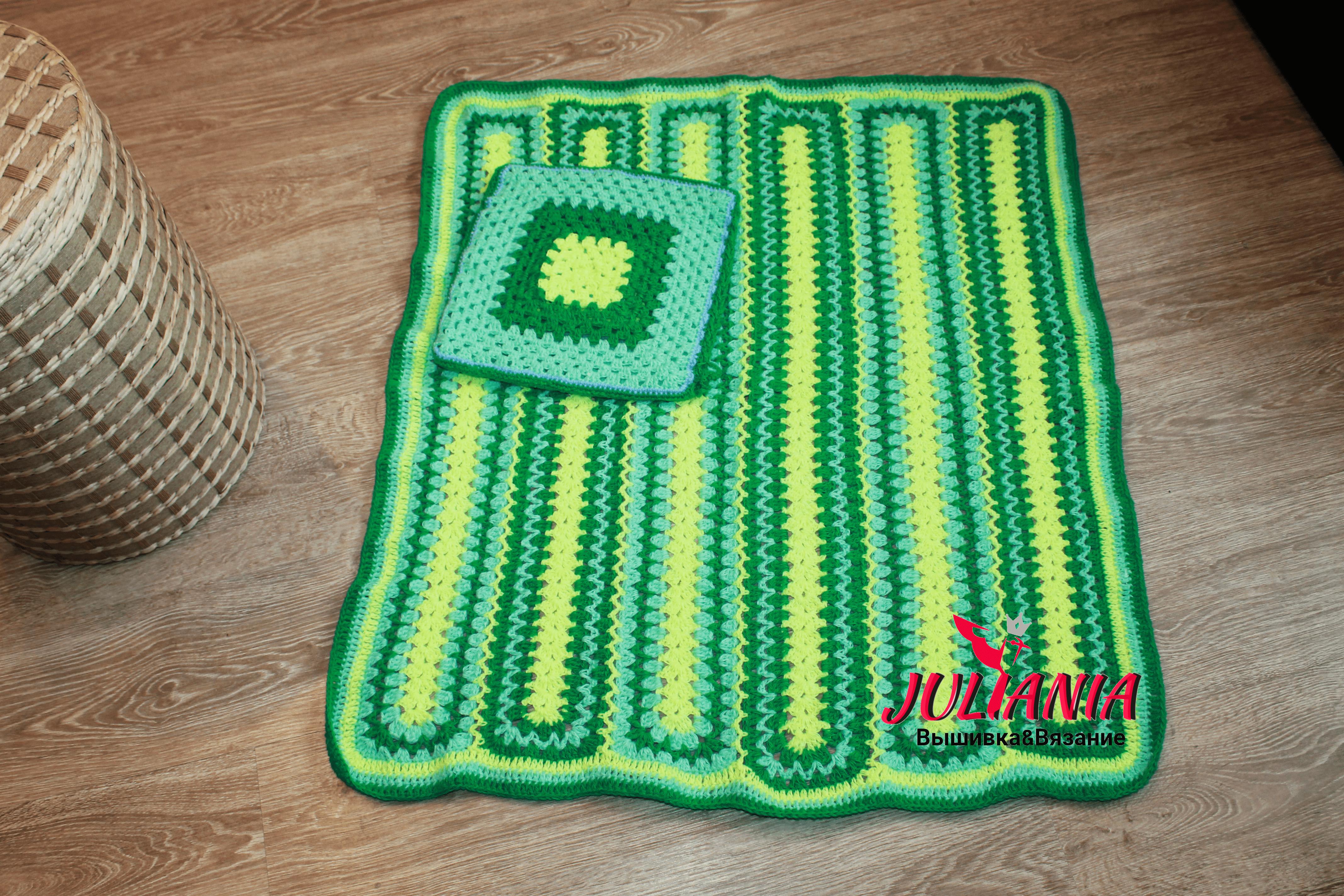 ковер купить новорожденного ручной малыша работы для plaid mat коврик коверспицами вязаныйковер вязаный коляску handmade blanket детскую детский пол ярко зелёный плед
