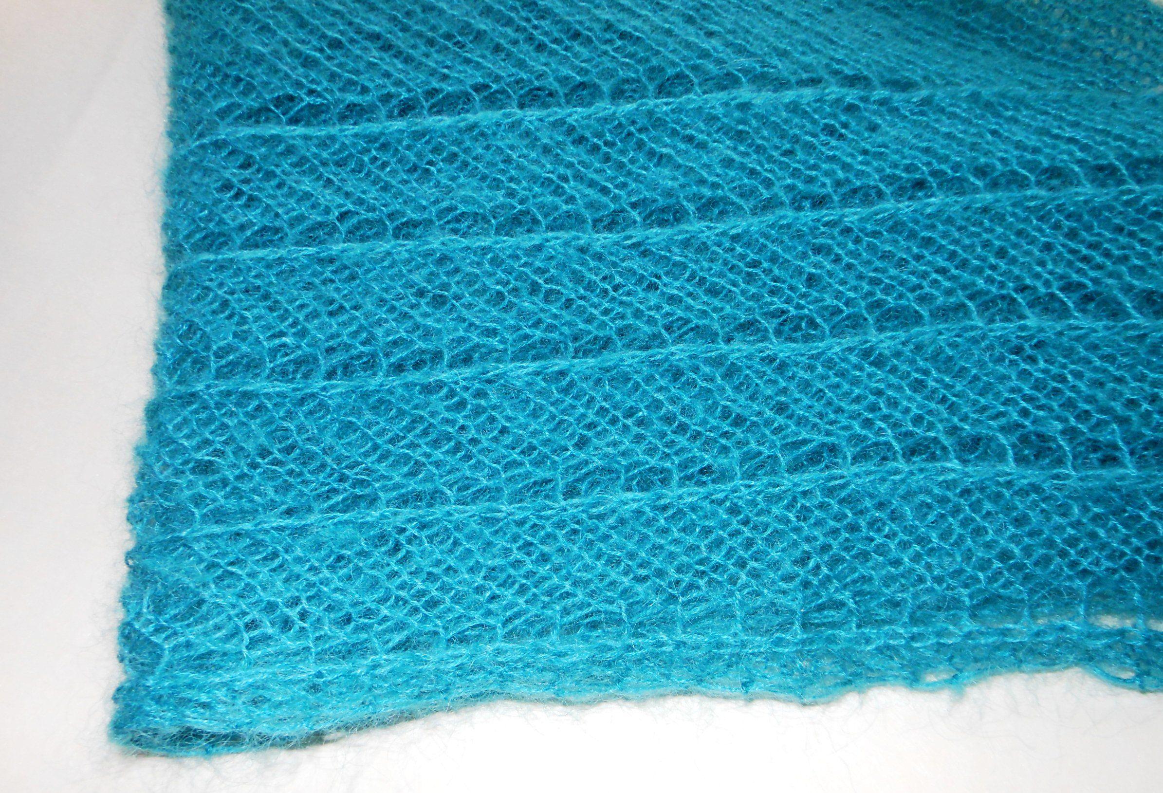 теплая мохеровая мохер спицы женщин полушалок холод шаль вязание для пряжа косынка зима