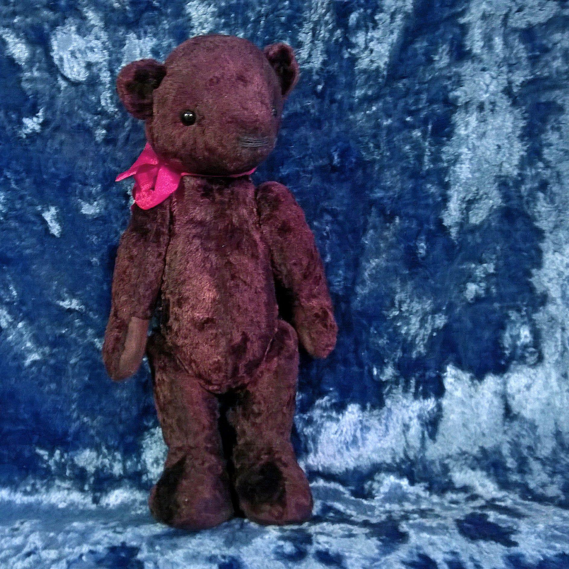 плюшевый медведь мишка коричневый винтажный подарок