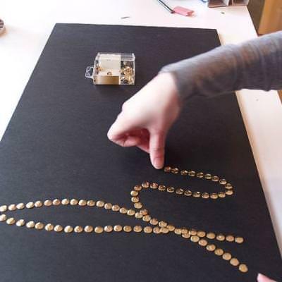 канцелярских кнопок подарки картины декор день из валентина святого руками своими картина