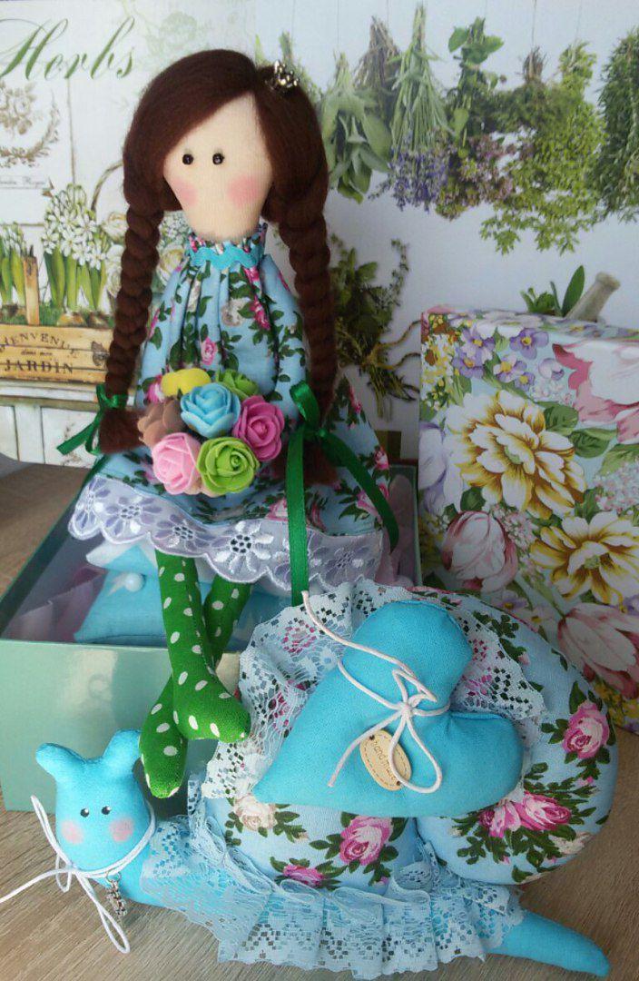 подарок работа ручная тильда улитка принцесса