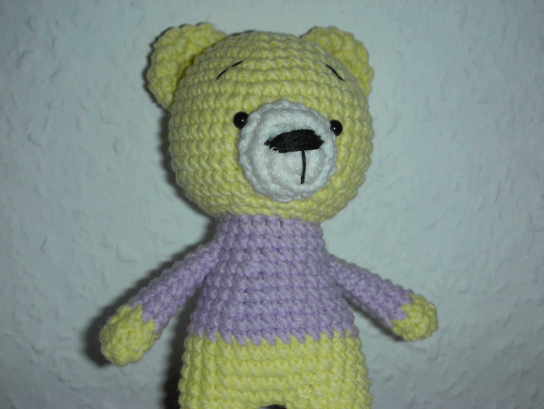 медведь мишка вязание талисман handmade ручная_работа