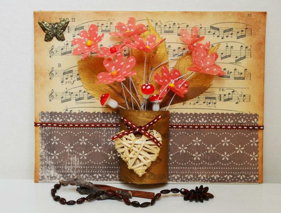 панно декор осень мастеркласс интерьер цветы