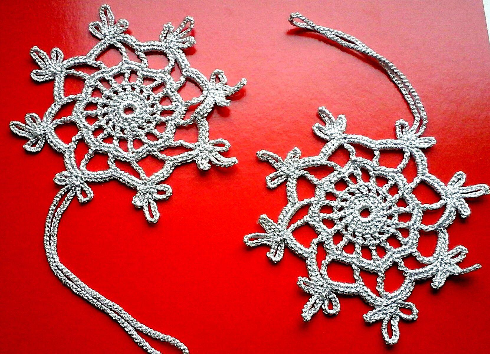 подарки елку снежинки праздник украшение новыйгод ручная работа вязаные