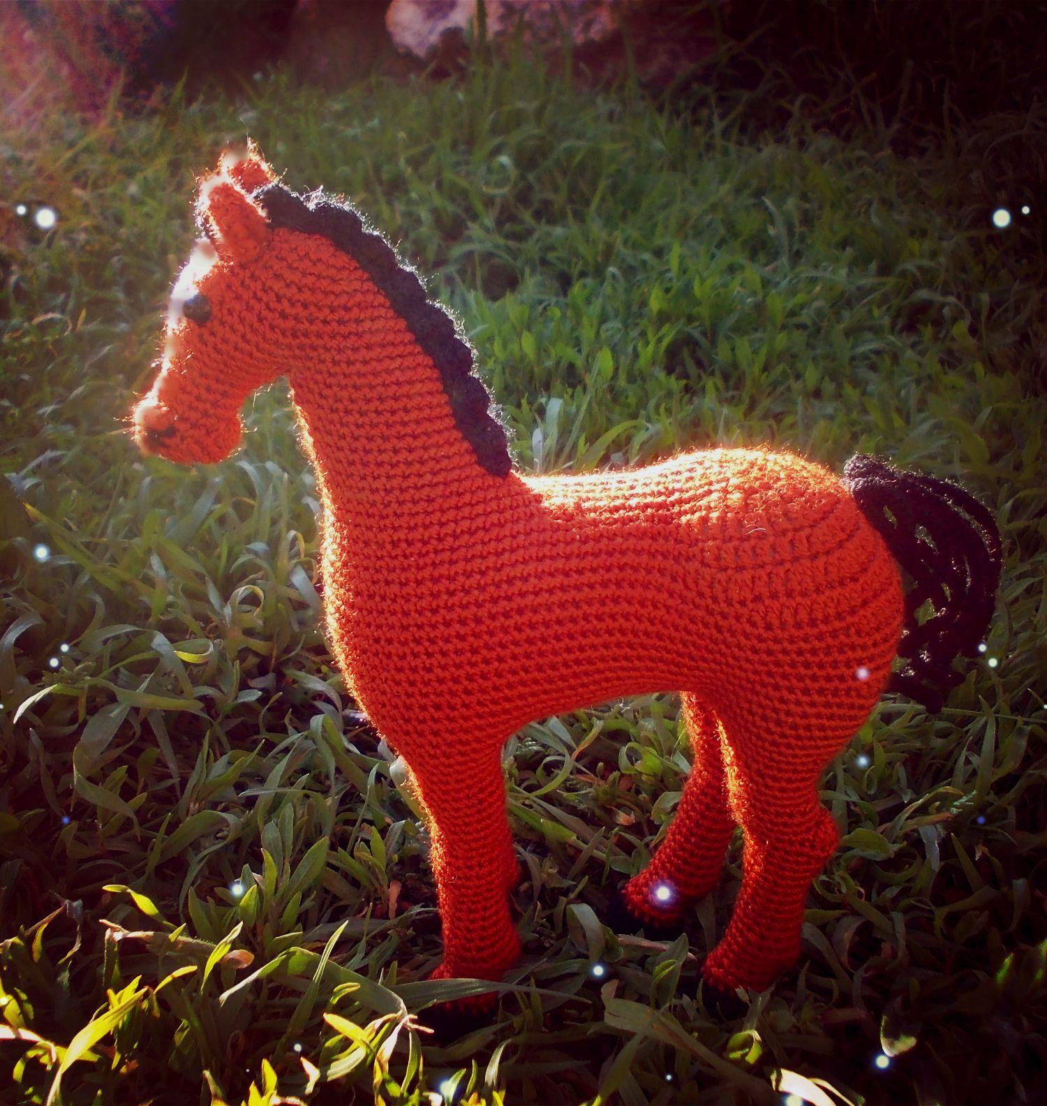 лошадка сувенир детям игрушка амигуруми