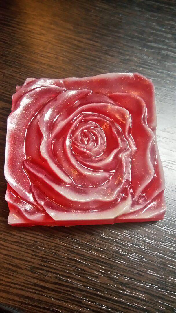ванны мыло для красное косметика роза ручной работы блестели