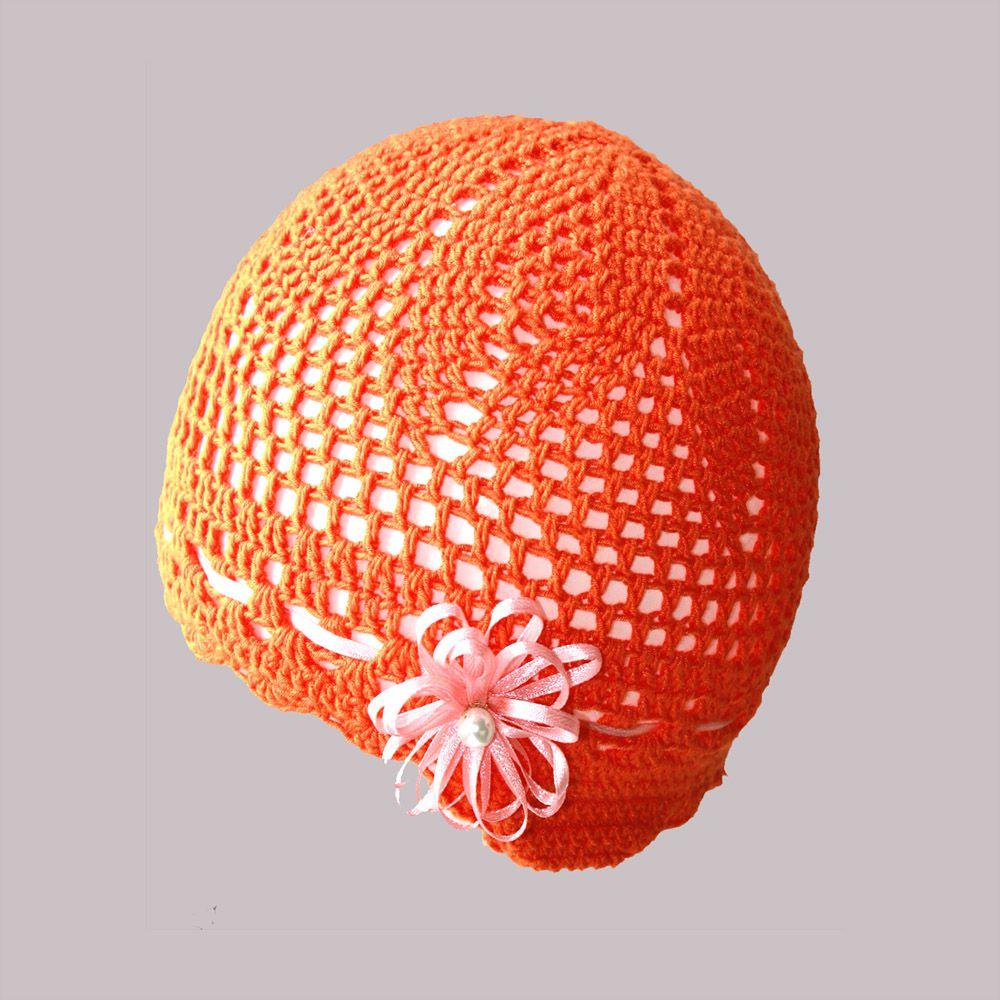 защитой ушек лентой атласной купить детские с девочки ручная цветком для продажа аксессуары оранжевая детям мягкая шапочка работа стрейч шапки
