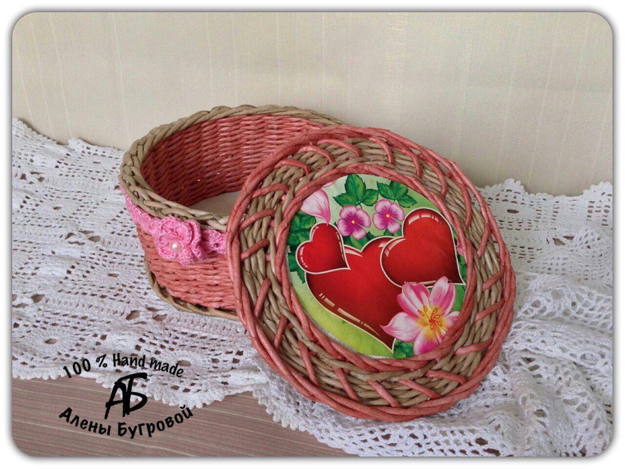 бумажная лоза шкатулка плетение бумажные трубочки