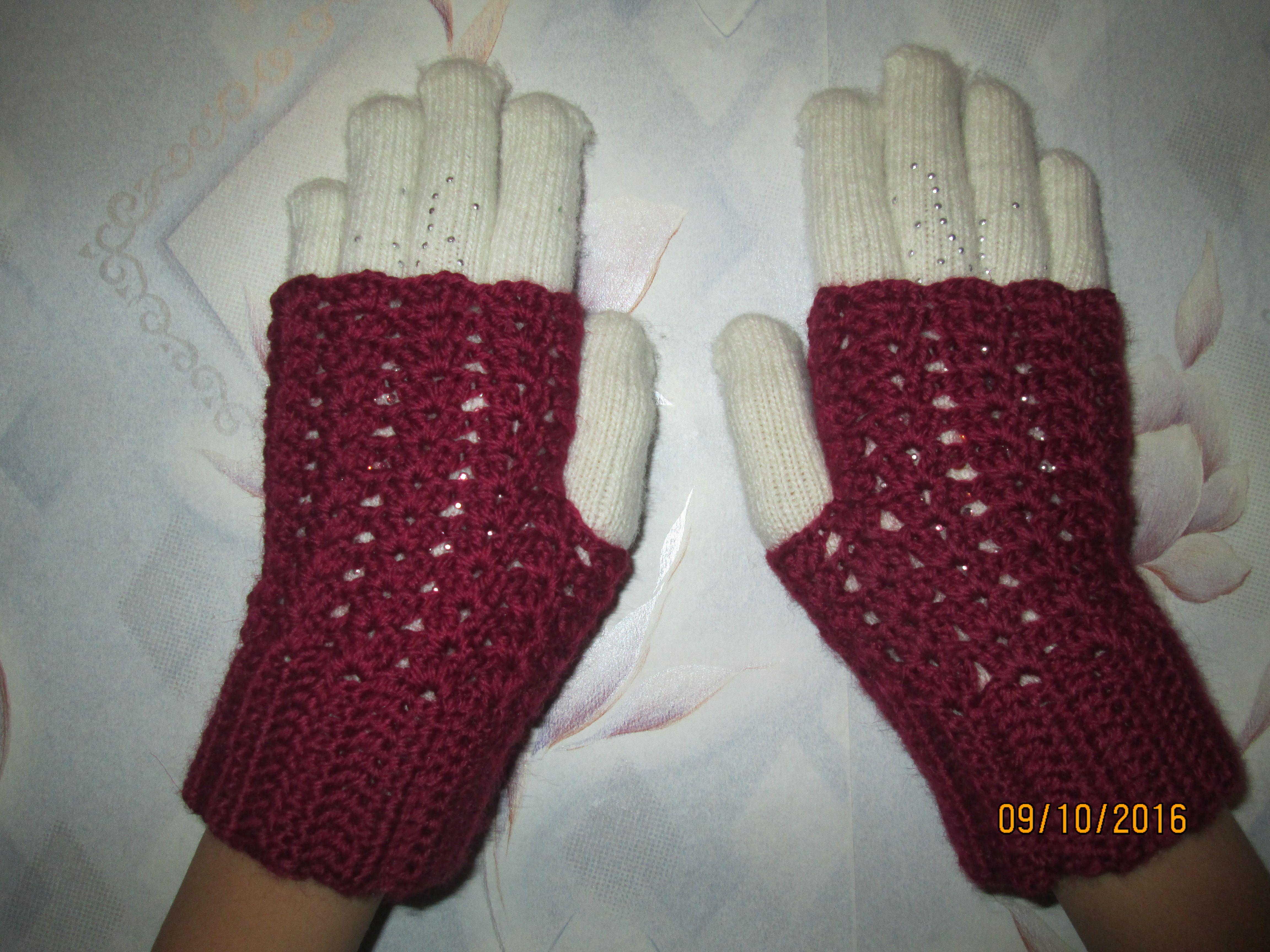 пальчиков митенки вязание изделиярукавички без крючкомодежда вязаные
