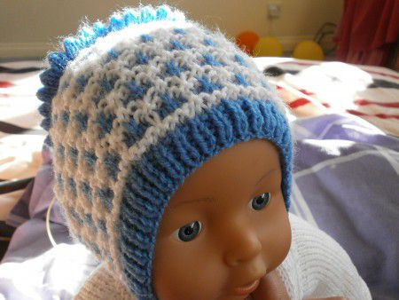 новорожденного спицами для шапочка