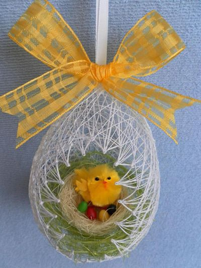 пасхи творческие декоративное яйцо ниток декор праздник из идеи руками своими