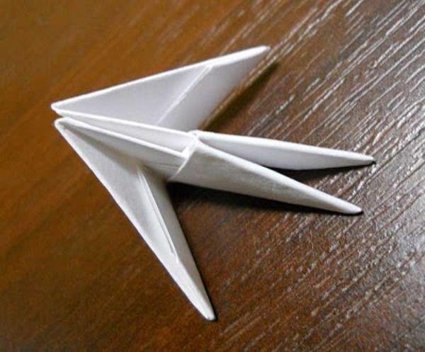 Оригами из бумаги: лебедь 2