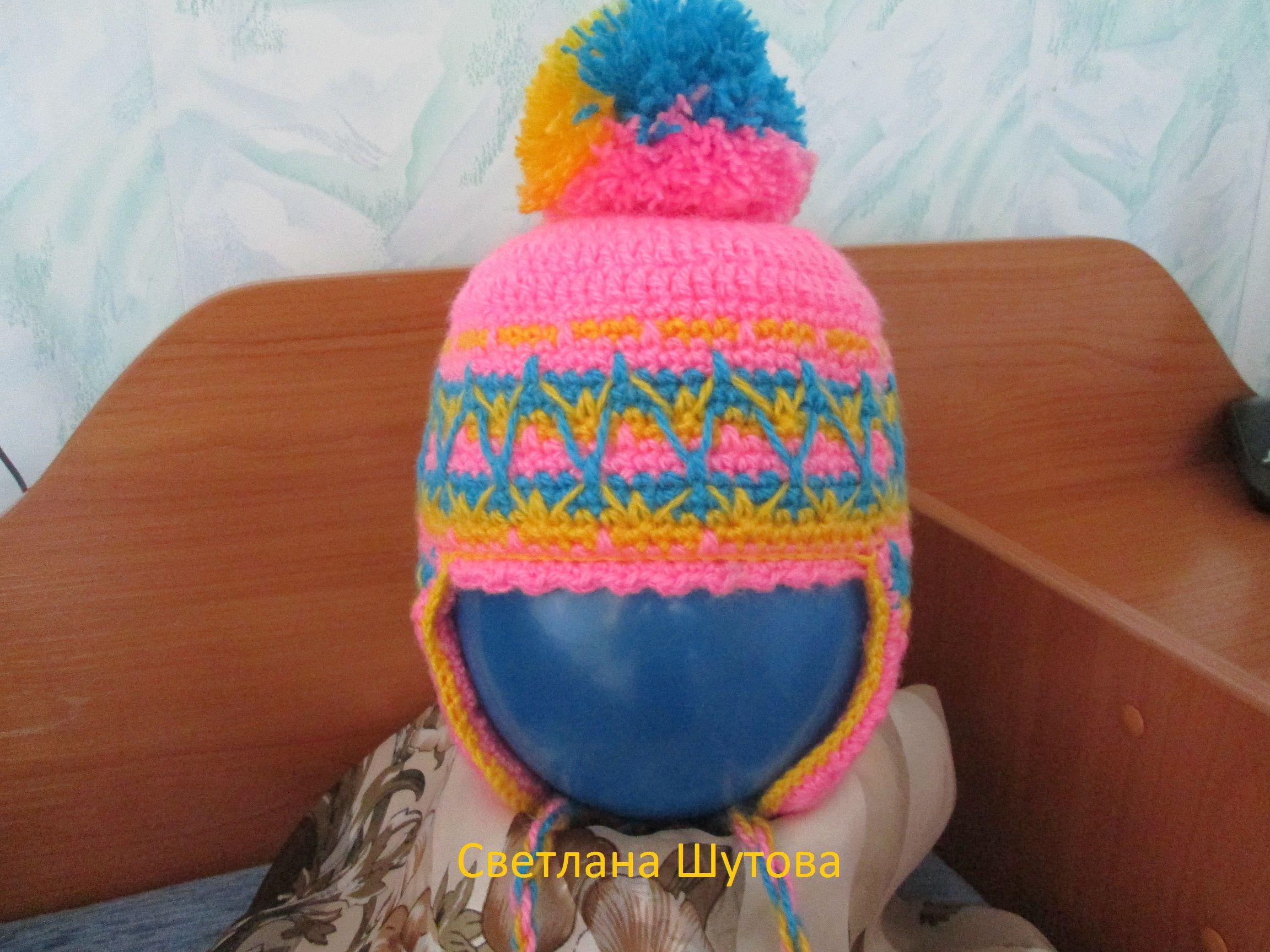 ручнаяработа демисезонная вязание девочка весенняя одежда шапочка осенняя крючком дети