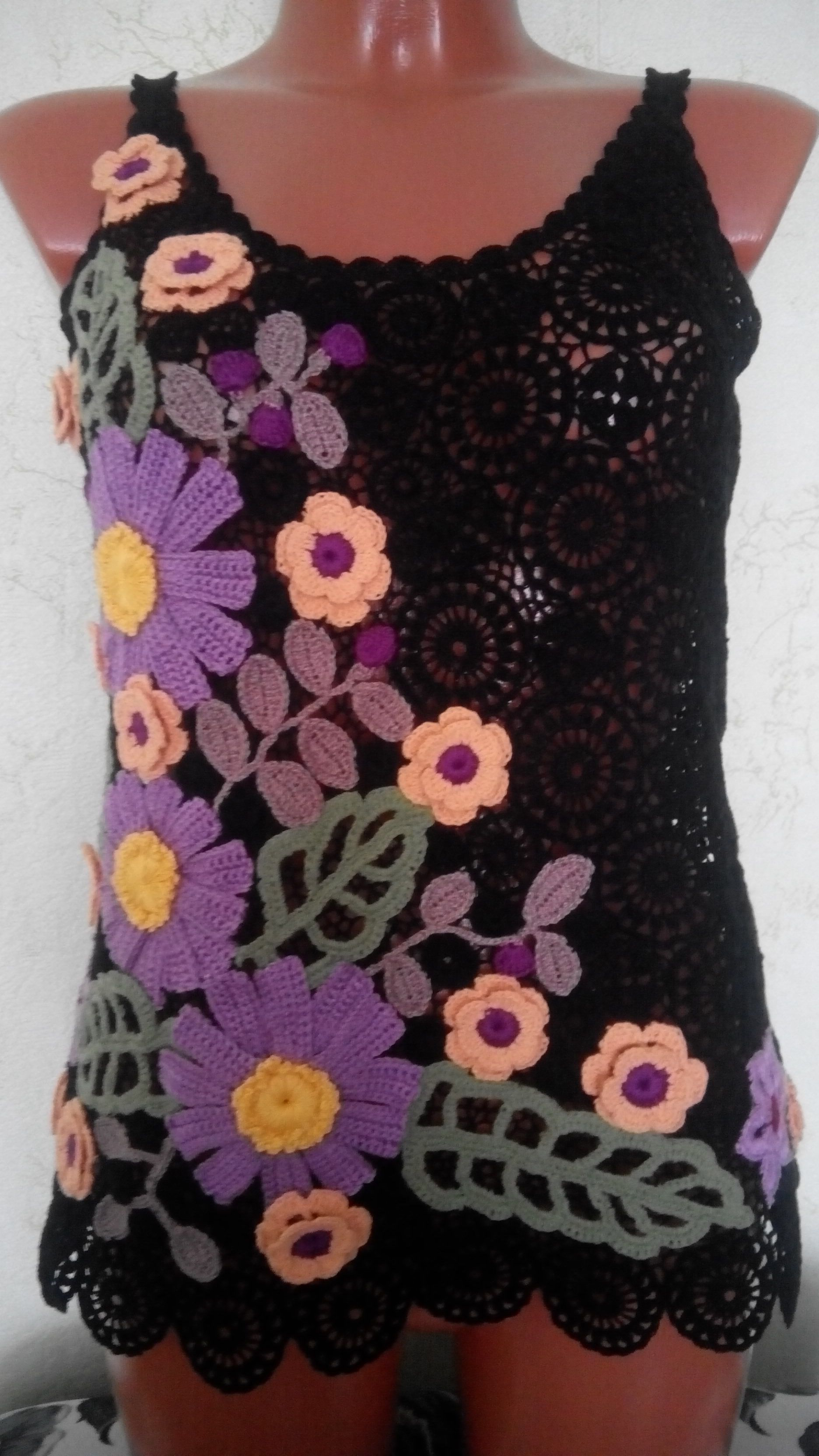 ирландия подарок вязание крючком топ кружево женщине