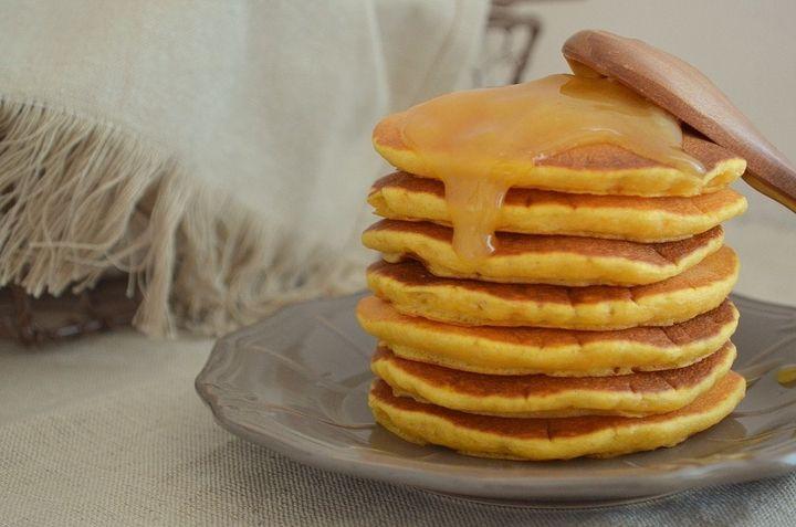 панкейки американскиеблины блины оладьи тыквенныепанкейки готовимдома завтрак идеязавтрака вкусноиполезно идея осенниедары осеннееблюдо вкусно очень креатив тыква