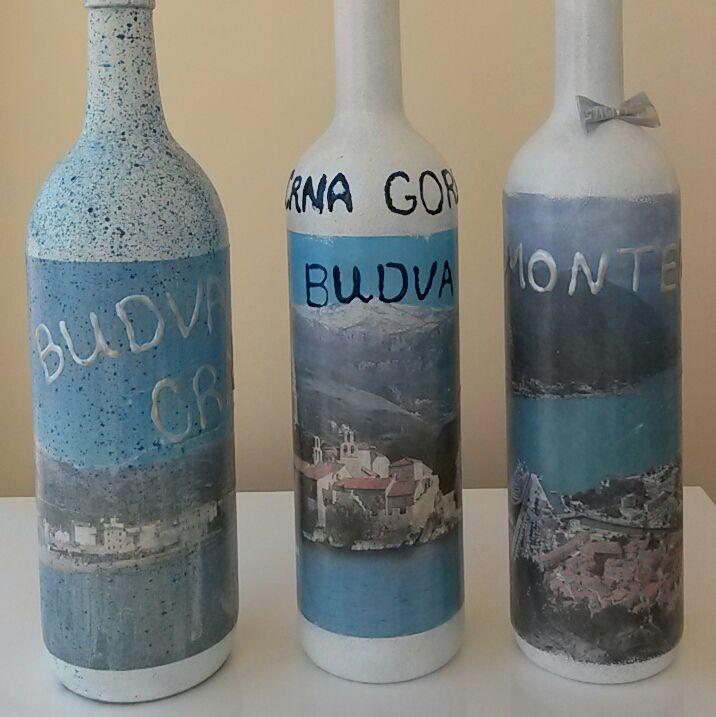 будва бутыль бутылки декупаж montenegro черногория