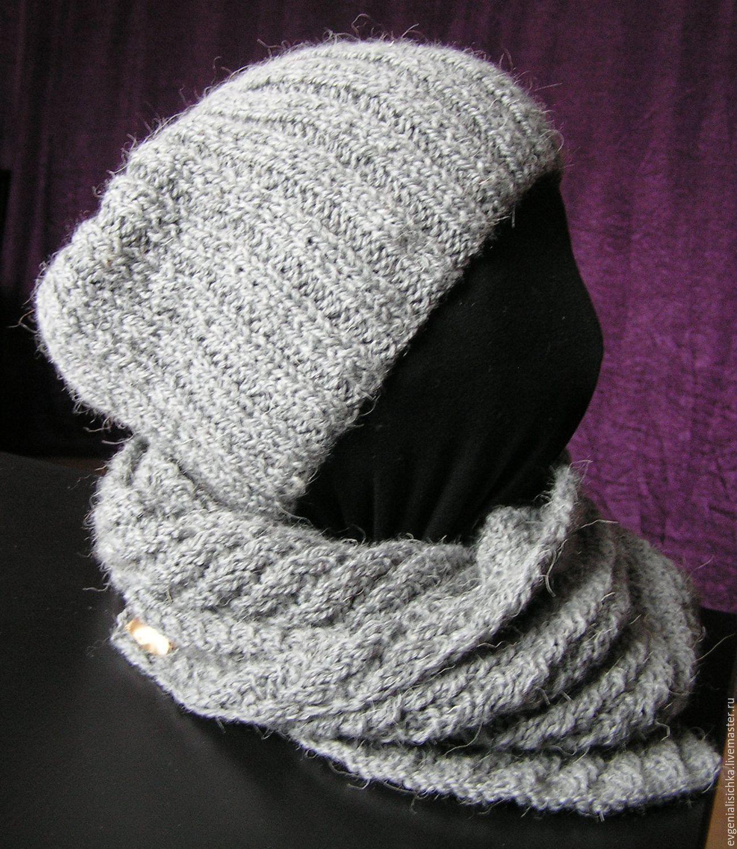 шапкаженская шапкавязаная шапказимняя шапкамужская шапка серый черный