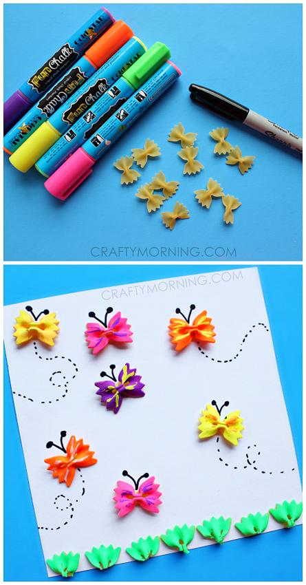 поделкиподаркиаппликации макароныбабочки поделок открытки для руками своими дети