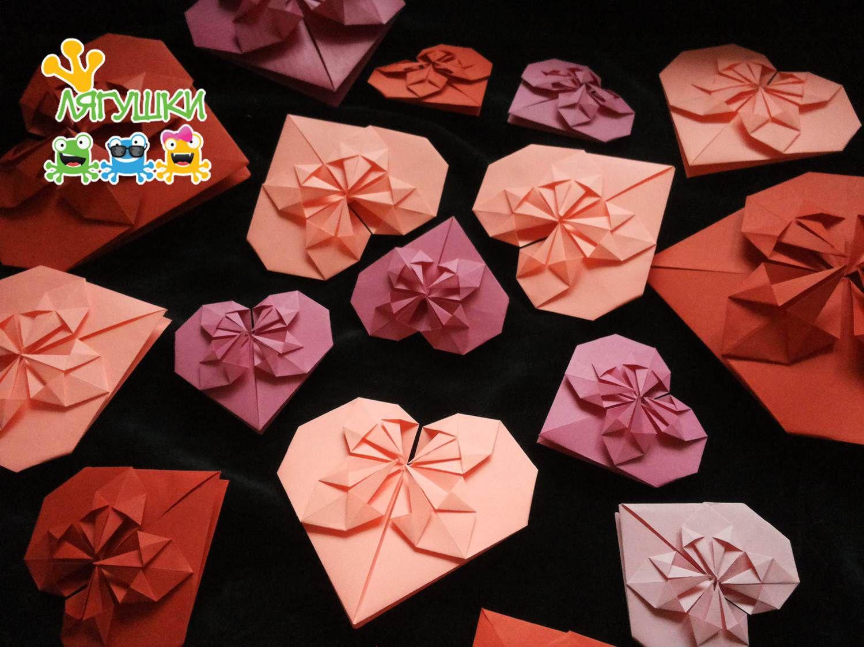 деньсвятоговалентина 14февраля stvalentinesday paperheart бумажноесердце оригами origami деньвсехвлюблённых трилягушки валентинка