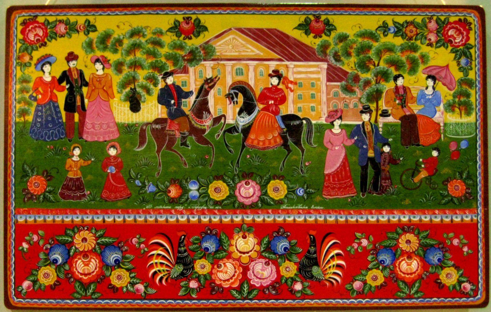 городецкая народные живопись роспись промыслы