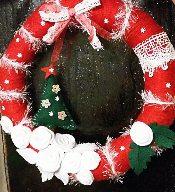 венки елочные необычные игрушки украшения новый новогодние яркие поделки рождество снеговик год интересные