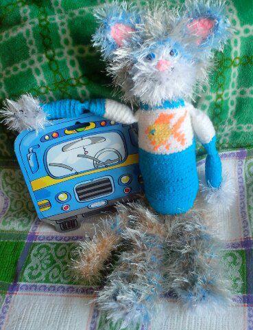 вязаная котик игрушка эксклюзив