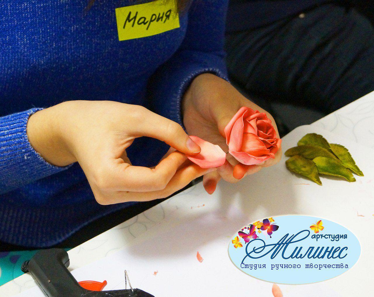 фоамиран бижутерия лепка украшения цветы