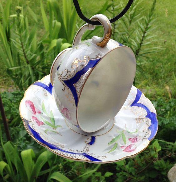 чашки чайникадекор сада птиц для из кормушка руками своими