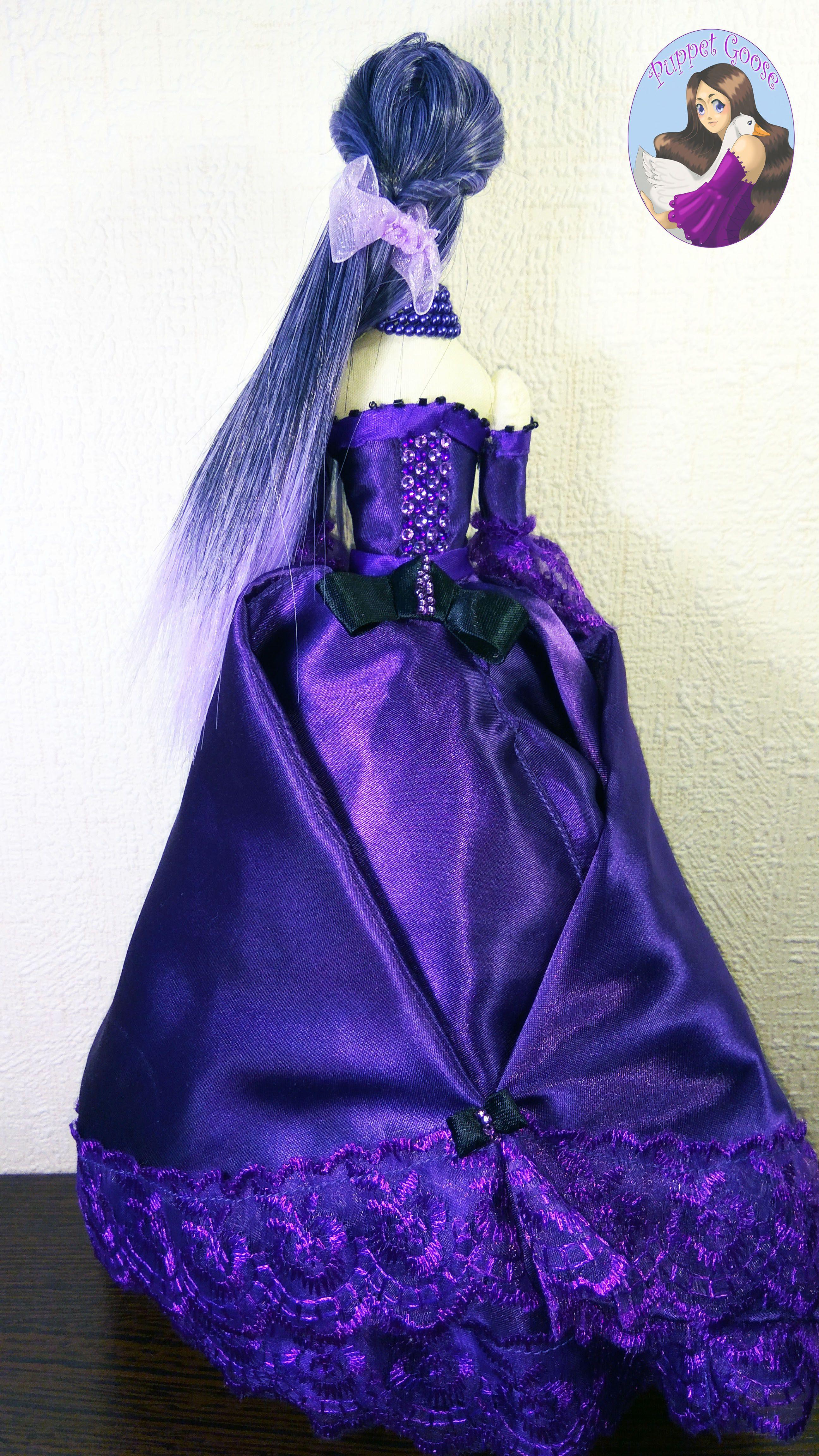 кукла ткань фиолетовый шитье тряпиенс текстильная
