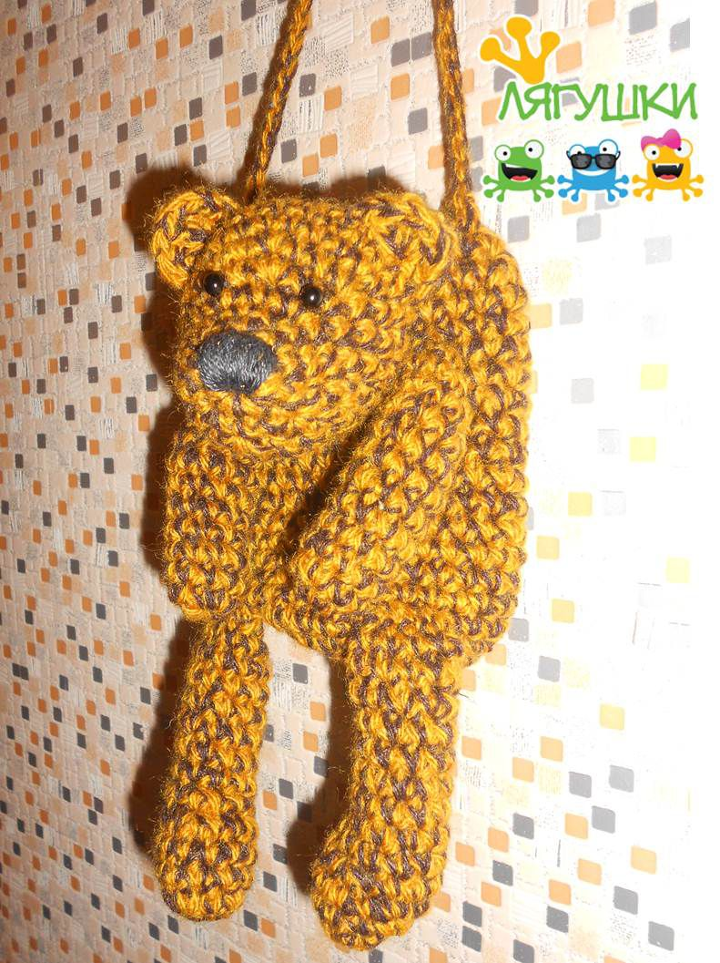 teddybear медведь мишка gift bear вязанаясумка craft softtoybag мягкаяигрушка handmade медвежонок тедди трилягушки чехолдлясмартфона