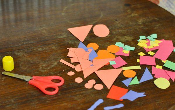 Аппликация из геометрических фигур 1