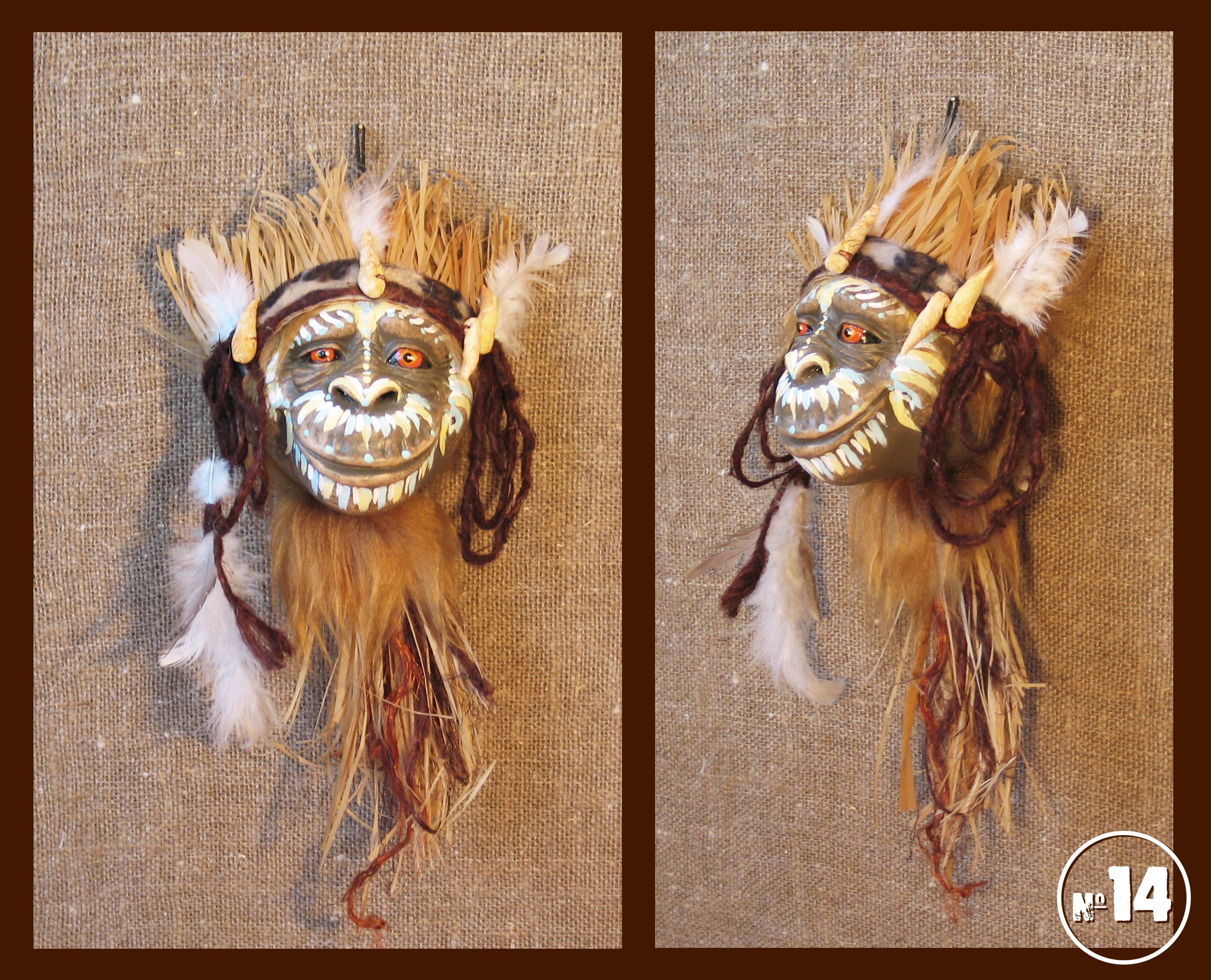 мистический образ шаман тотем новогодний оберег маска обезьяна сувенир подарок