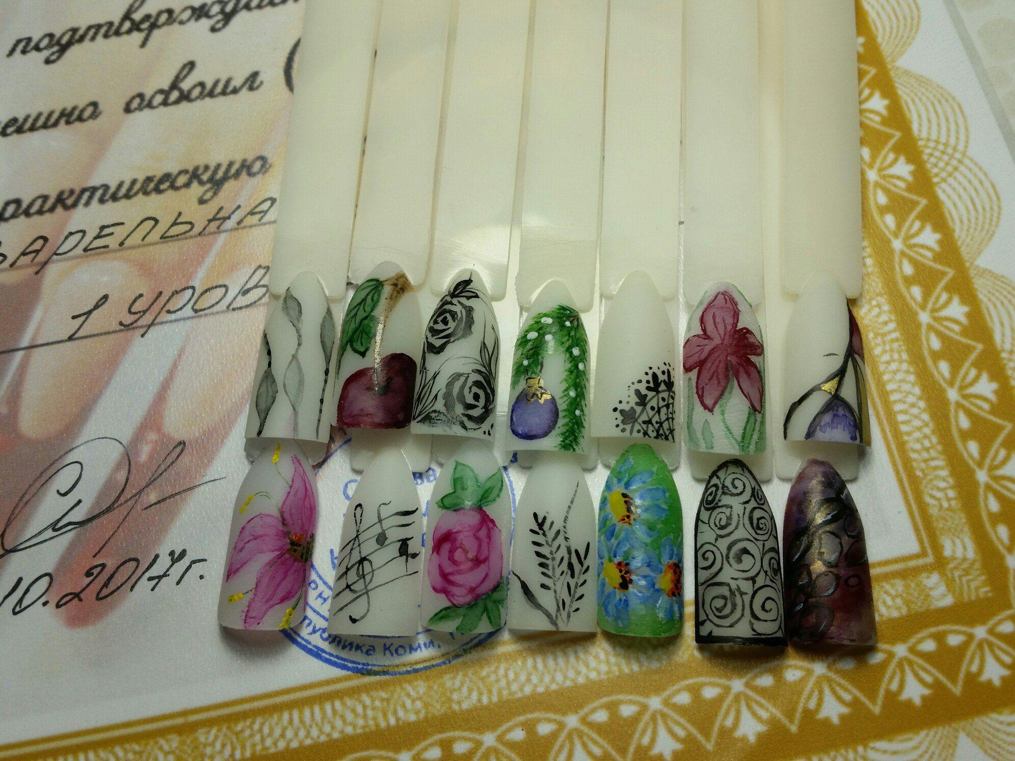 маникюр роспись ногти искусство
