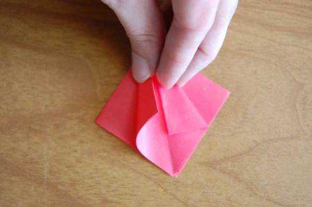 Оригами из бумаги цветы 16