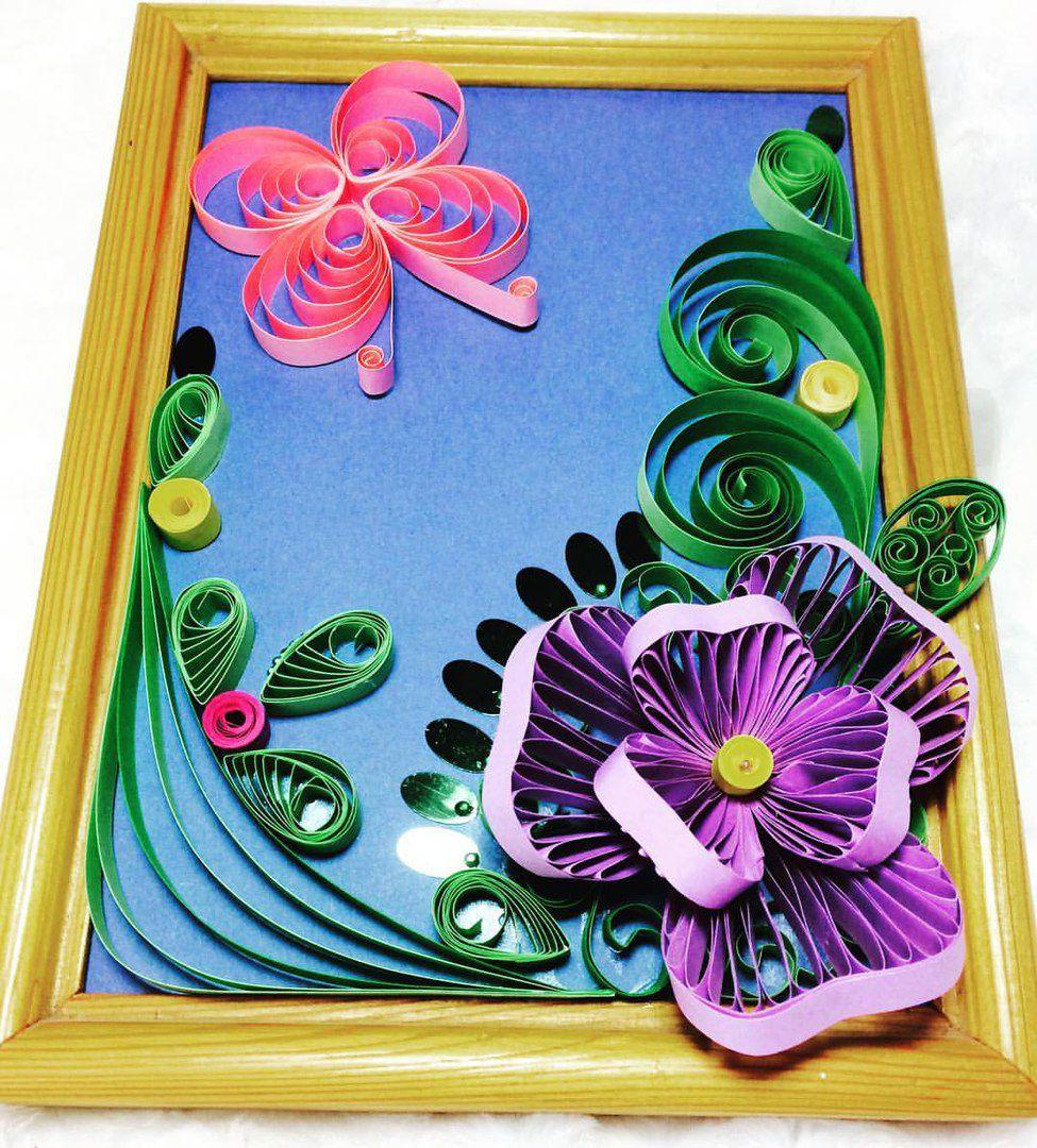 картина хобби квиллинг цветы подарки творчество