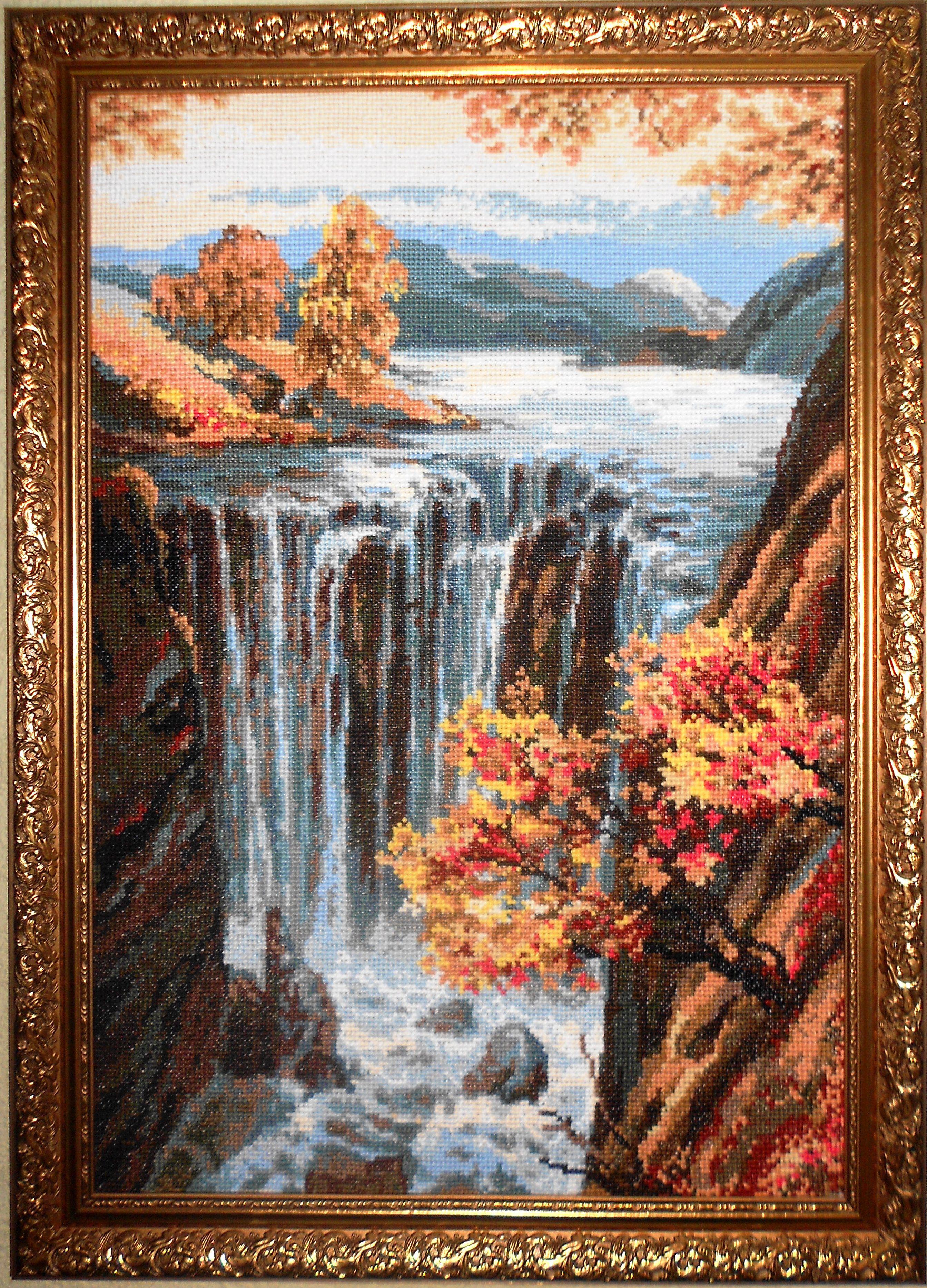 Картины с водопадом для вышивки