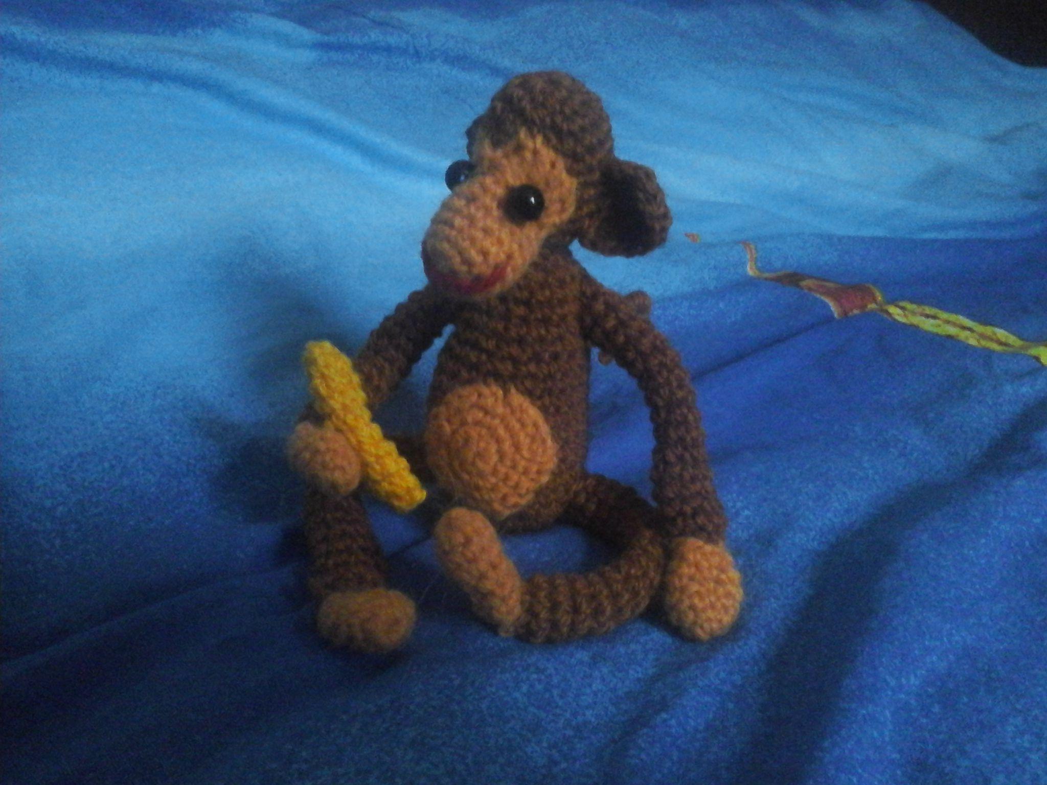 вязаная мягкая игрушка обезьянка подарок