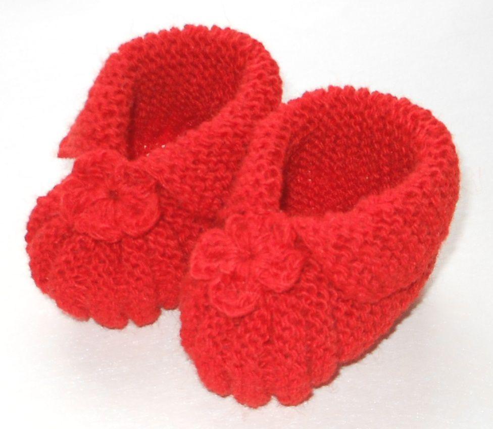 связано спицами к празднику ручная вязание пинетки носки работа шерсть подарок дети шерстяные