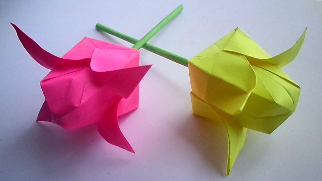 мастеркласс бумаги цвет из оригами