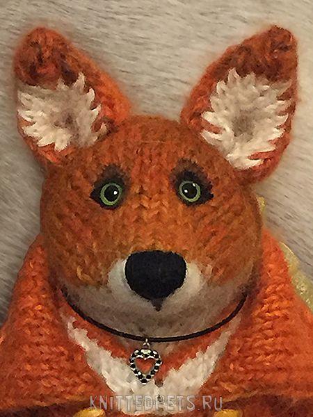 лис лисичка игрушка вязанаялисичка сувенир лиса кукла подарок