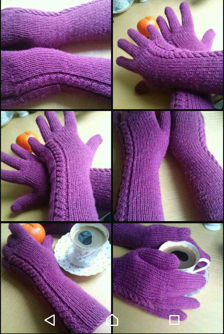ручнаяработа перчатки зима тепло