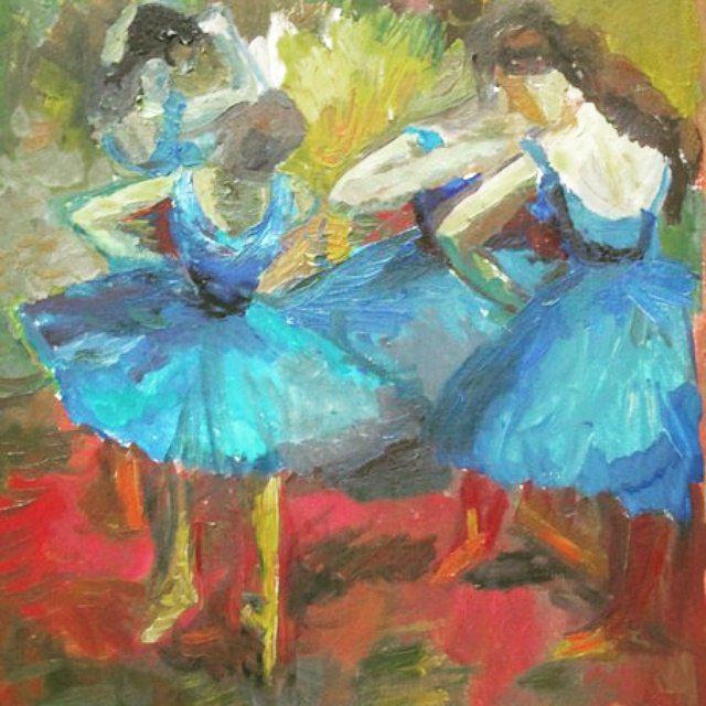 балет картина винтаж